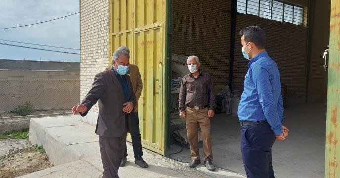 بازدید مدیر شرکت خدمات حمایتی کشاورزی استان بوشهر از انبار کارگزاری روستای آبطویل