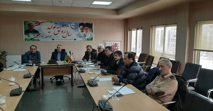 حضور مهندس راهب مسافر در جلسه تغذیه گیاهی استان در سازمان جهاد کشاورزی