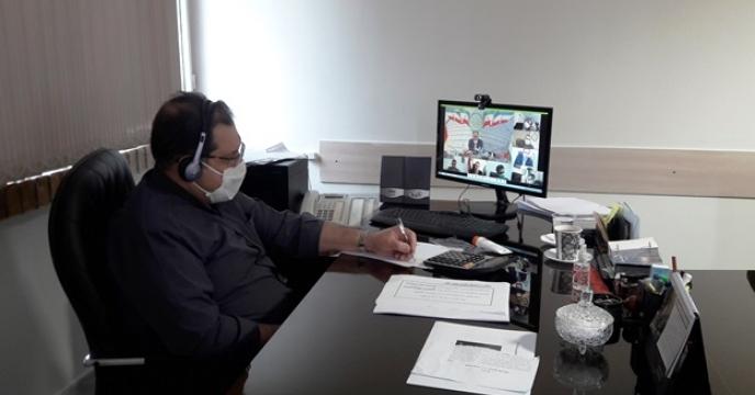 تشکیل اولین جلسه شورای هماهنگی مدیران در سال جاری از طریق ویدئو کنفرانس