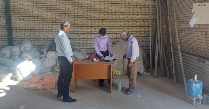 بازدید گروه پایش و نظارت استان از انبار کارگزاری روستای آبطویل شهرستان بوشهر