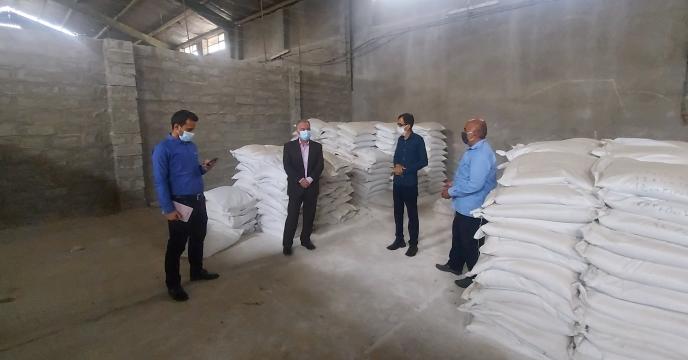 بازدید مدیر شرکت خدمات حمایتی کشاورزی استان بوشهر از انبار سازمانی کود برازجان