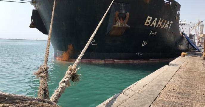 پهلودهی کشتی در بندراسکله شهید رجایی