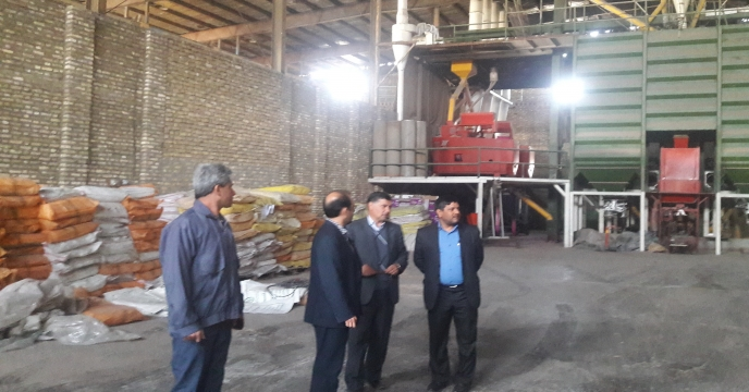 مهندس كاشكی از كارخانه بوجاری بذر مشهد بازدید نمود.