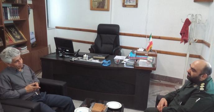 بازدید فرمانده محترم بسیج ادارات مرکز استان از شرکت خدمات حمایتی کشاورزی  مازندران