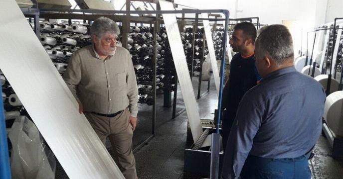 بازدید مدیر توزیع، حمل و نگهداری از کارخانه تولید کیسه کود در استان مازندران