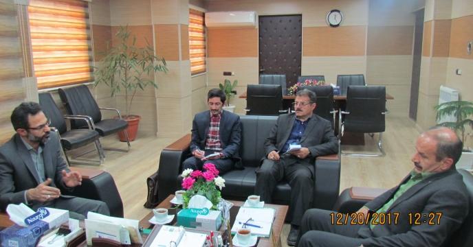 نشست  حبیب الله حسام  سرپرست شرکت خدمات حمایتی کشاورزی با مدیریت شعب پست بانک استان گلستان