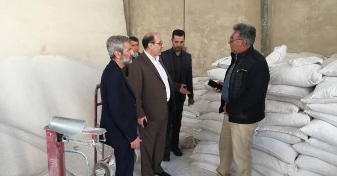 بازدید جناب آقای مهندس منصوری عضو محترم هیئت مدیره شرکت خدمات حمایتی کشاورزی به اتفاق هیئت همراه از انبار سازمانی