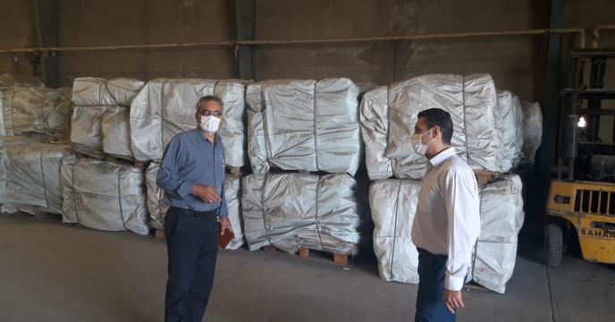 بازدید مدیر شرکت خدمات حمایتی کشاورزی استان اصفهان از انبار ذخیره سازی کیسه گونی  استان