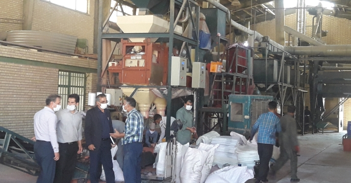 بازدید مدیر شرکت خدمات حمایتی استان اصفهان از کارخانه بوجاری بذر استان