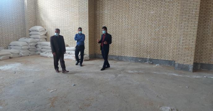 بازدید مدیر شرکت خدمات حمایتی کشاورزی استان بوشهر از انبار کارگزاری رود حله شمالی شهرستان گناوه