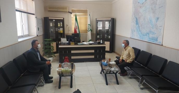 ديدار و نشست آقاى مهندس بنوی کارگزار شهر عسلویه با مدیر شرکت خدمات حمایتی کشاورزی استان بوشهر