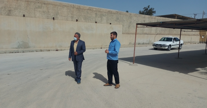 بازدید مدیر شرکت خدمات حمایتی کشاورزی استان بوشهر از انبار سازمانی ( بنگاه توسعه سابق)