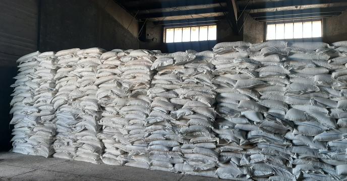 حمل و تخلیه 400 تن کود سولفات پتاسیم گرانوله در استان قزوین