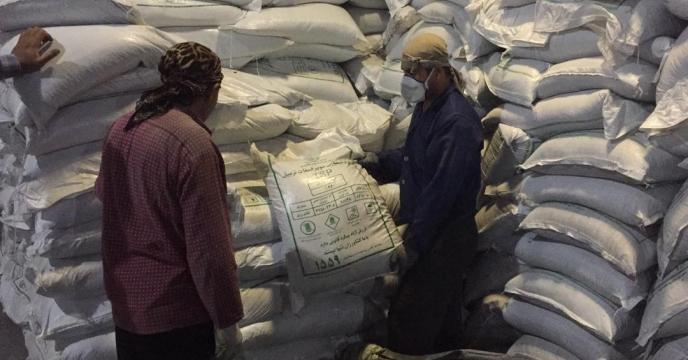 تامبن و ارسال مقدار 5 تن کود سوپر فسفات تریپل به شهرستان مهاباد