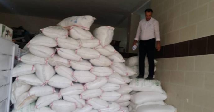 کود سولفات پتاسیم توزیع شده در شهرستان دهلران