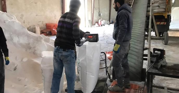 کیسه گیری  مقدار 75 تن کود اوره فله در انبار  استان آذربایجان غربی