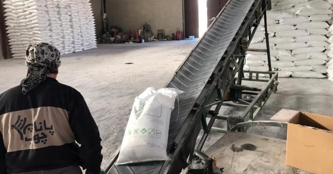 کیسه گیری مقدار 70 تن کود اوره فله در انبارکود استان آذربایجان غربی