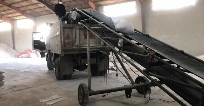 تامبن و ارسال مقدار 5 تن کود سولفات پتاسیم گرانول به شهرستان مهاباد