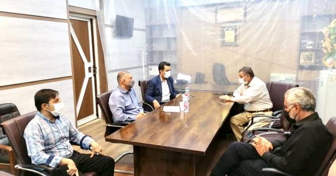 برگزاری جلسه مدیر و مسئول امور بازرگانی شعبه با پیمانکار حمل طرف قرارداد شعبه فارس