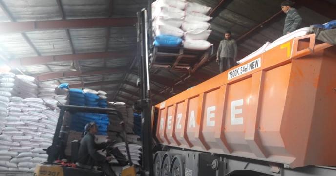 توزیع 85 تن کود شیمیایی سولفات پتاسیم در شهرستان ملکان