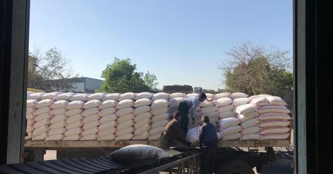 توزیع کود شیمیایی در شهرستان سبزوار، استان خراسان رضوی