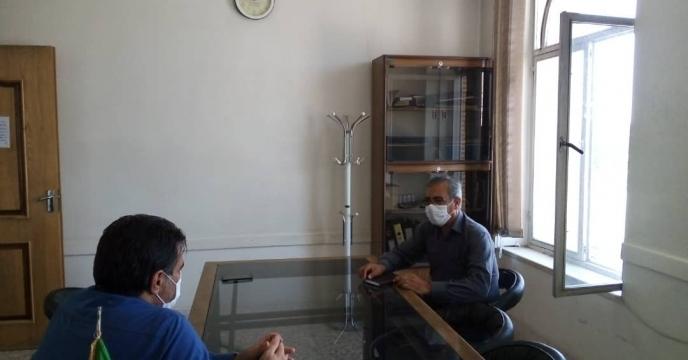 بازدید مدیر شرکت خدمات حمایتی کشاورزی استان اصفهان از کارگزاران شهرستان فریدن