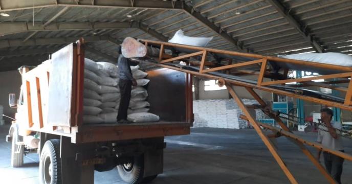 توزیع کود نیترات آمونیوم سولفات در شهرستان کرج