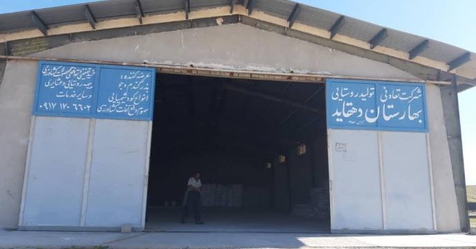 بازدید گروه پایش و نظارت از انبارکارگزاری روستای دهقاید