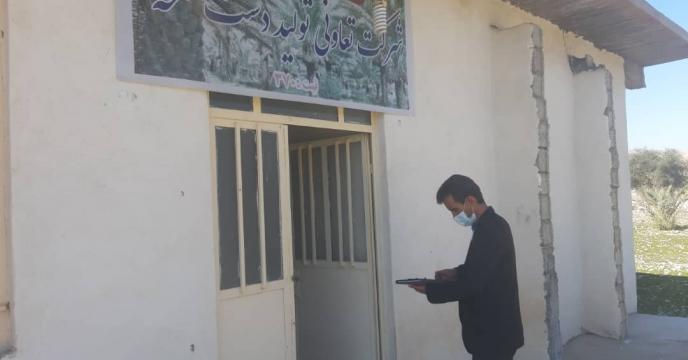 بازدید کار گروه پایش و نظارت از انبار کارگزاری روستای طلحه شهرستان دشتستان