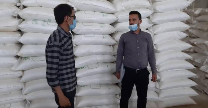 بازدید مسئول امور کود از انبار سازمانی کود برازجان