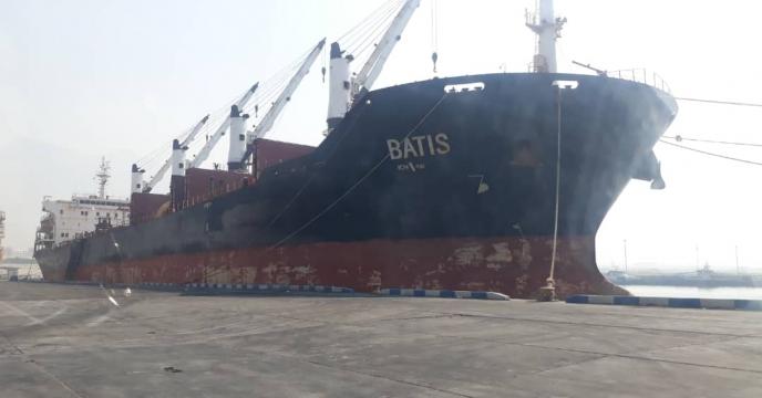 آمار عملیات بارگیری کشتی باتیس از پتروشیمی پردیس عسلویه