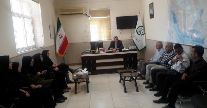 حضور عضو هیئت مدیره و معاون فنی و کنترل کیفی شرکت در استان بوشهر