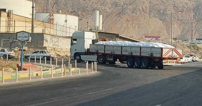تأمین و حمل ۹۶ تن کود شیمیایی اوره از مبدا عسلویه به استان گلستان