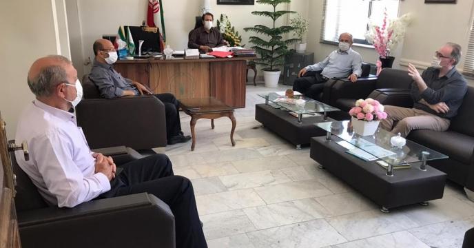 جلسه مدیر با همکاران مدیریت کشاورزی شهرستان ارومیه