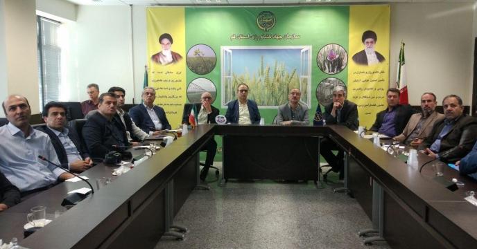 جلسه تخصصی اجرای طرح الگوی کشت در استان قم