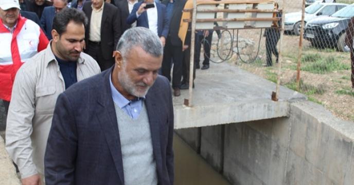 بازدید و سفر وزیر جهاد کشاوزرزی و هیئت همراه از مناطق سیل زده استان ایلام