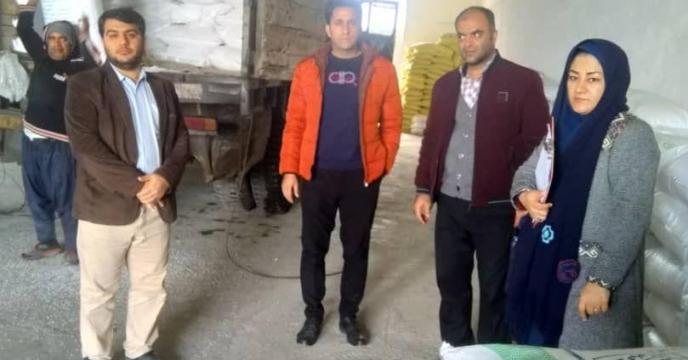 بازدید کمتیه پایش از کارگزاری کود شرکت خدمات حمایتی کشاورزی  در شهرستان آزادشهر گلستان