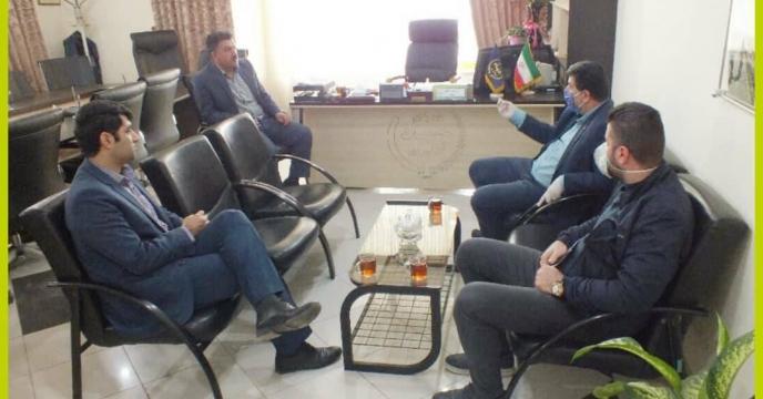 جلسه ملاعلی مدیر جهادکشاورزی شهرستان گرگان با هزارجریبی مدیر شرکت خدمات حمایتی کشاورزی استان