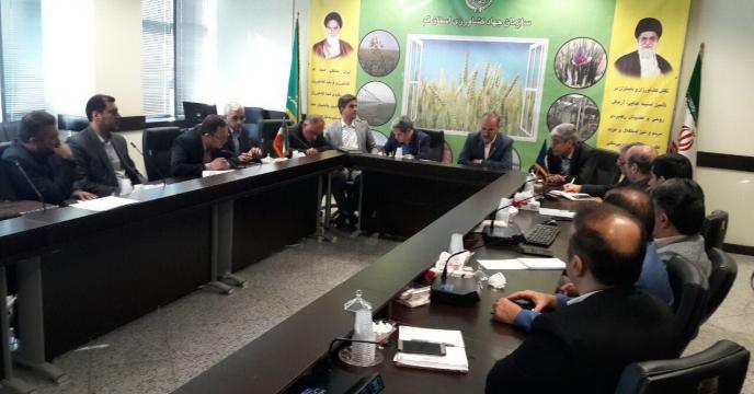جلسه ی هم اندیشی سازمان جهاد کشاورزی استان قم