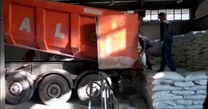 ورود و تخلیه 50 تن کود سوپرفسفات ترپیل در انبارهای مجتمع آبیک