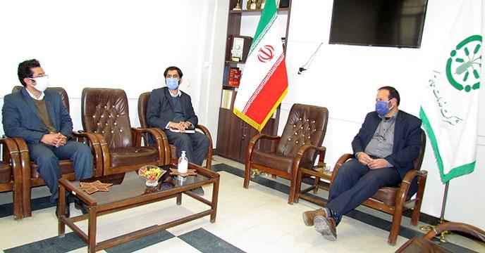 دیدار مدیر حراست سازمان جهاد کشاورزی استان همدان از شرکت خدمات حمایتی کشاورزی استان