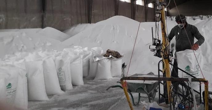 عملیات کیسه گیری کود شیمیایی ازته فله در شرکت خدمات حمایتی کشاورزی استان همدان