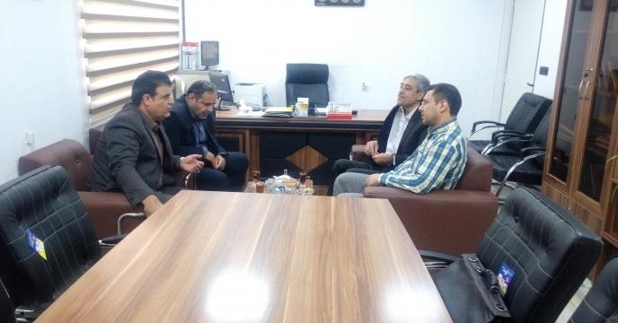 نشست با معاون بهبود تولیدات گیاهی سازمان جهاد کشاورزی استان قم