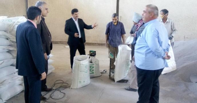 بازدید سرپرست شرکت خدمات حمایتی کشاورزی استان گلستان از  انبار چای بویی گنبد