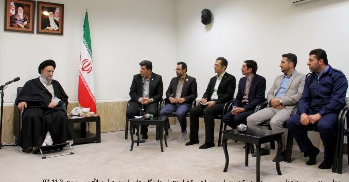 دیدار مدیر و  جمعی از کارکنان شرکت خدمات حمایتی کشاورزی استان گلستان با نماینده محترم ولی  فقیه در استان گلستان