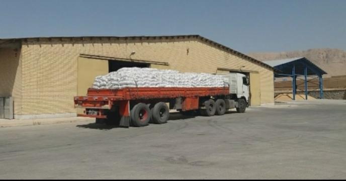 توزیع مقدار 30تن کود سولفات پتاسیم در شهرستان سامان