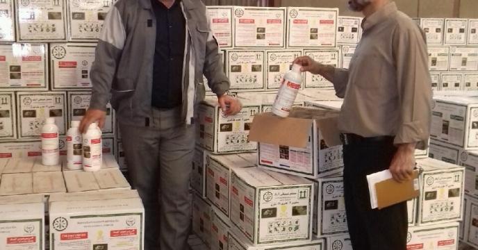 بازدید مدیر شرکت خدمات حمایتی کشاورزی استان گلستان از  سموم ارسالی  تولیدی مجتمع شیمیایی آبیک در انبار سازمانی گرگان