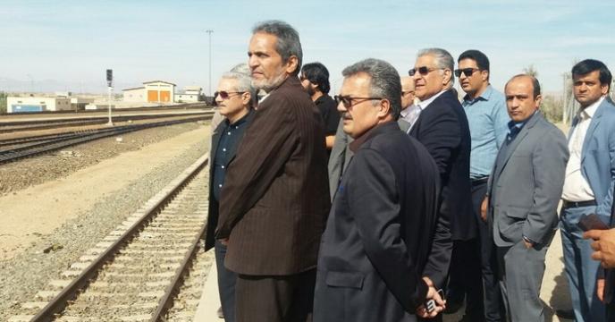 جلسه بازدید از امکانات راه آهن شرق استان خراسان جنوبی