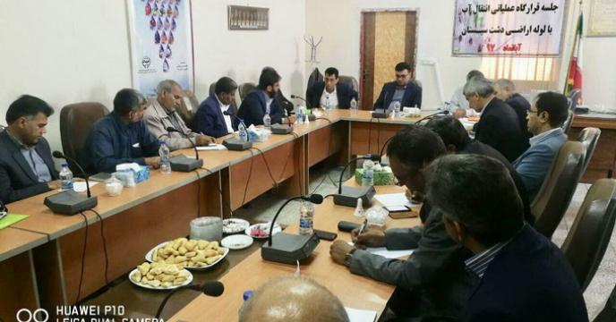 حضور آقای ملاشاهی مدیر استان سیستان و بلوچستان در نشست قرارگاه عملیاتی انتقال آب با لوله به۴۶هزار هکتار  اراضی دشت سیستان