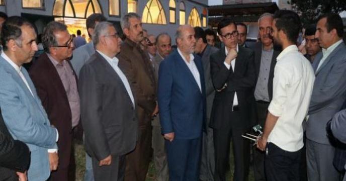 بازدید معاون وزیر تعاون، معاون استاندار و رئیس سازمان از غرفه استان مازندران
